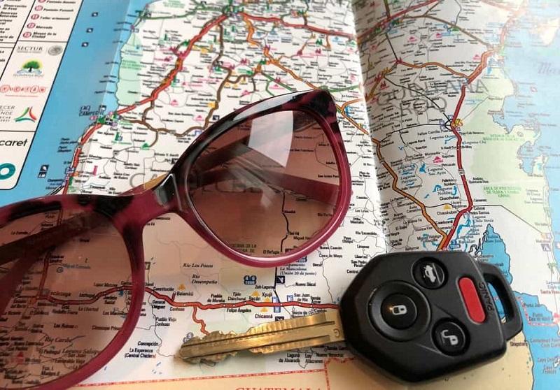 Rental car key for traveling