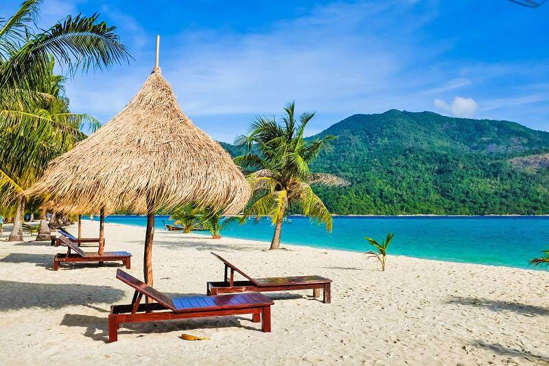 Paradise beach in Cancun