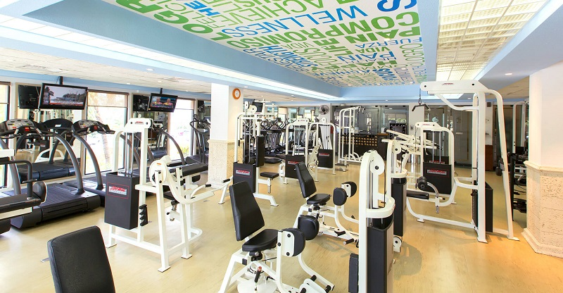 Gym at The Royal Sands resort & spa all-inclusive in Cancun