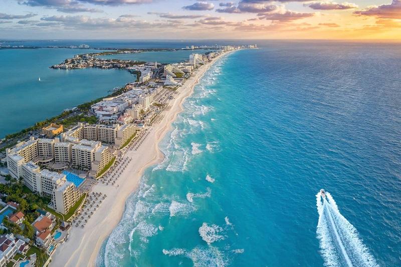 Cancun beach in summer