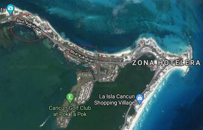 Boulevard Kukulcan in Cancun
