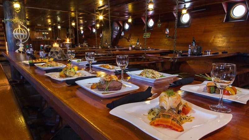 Captain Hook's boat dinner in Cancun