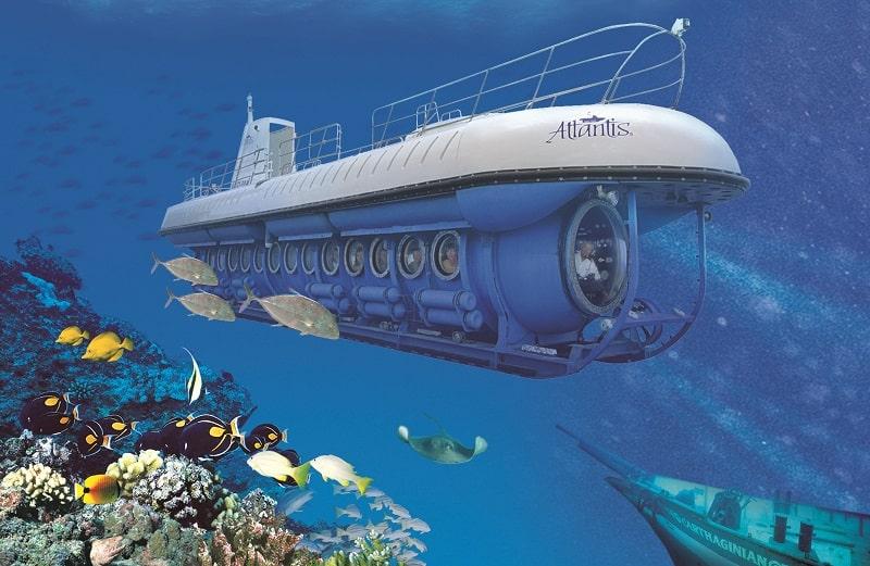 Submarine on the Cozumel Island