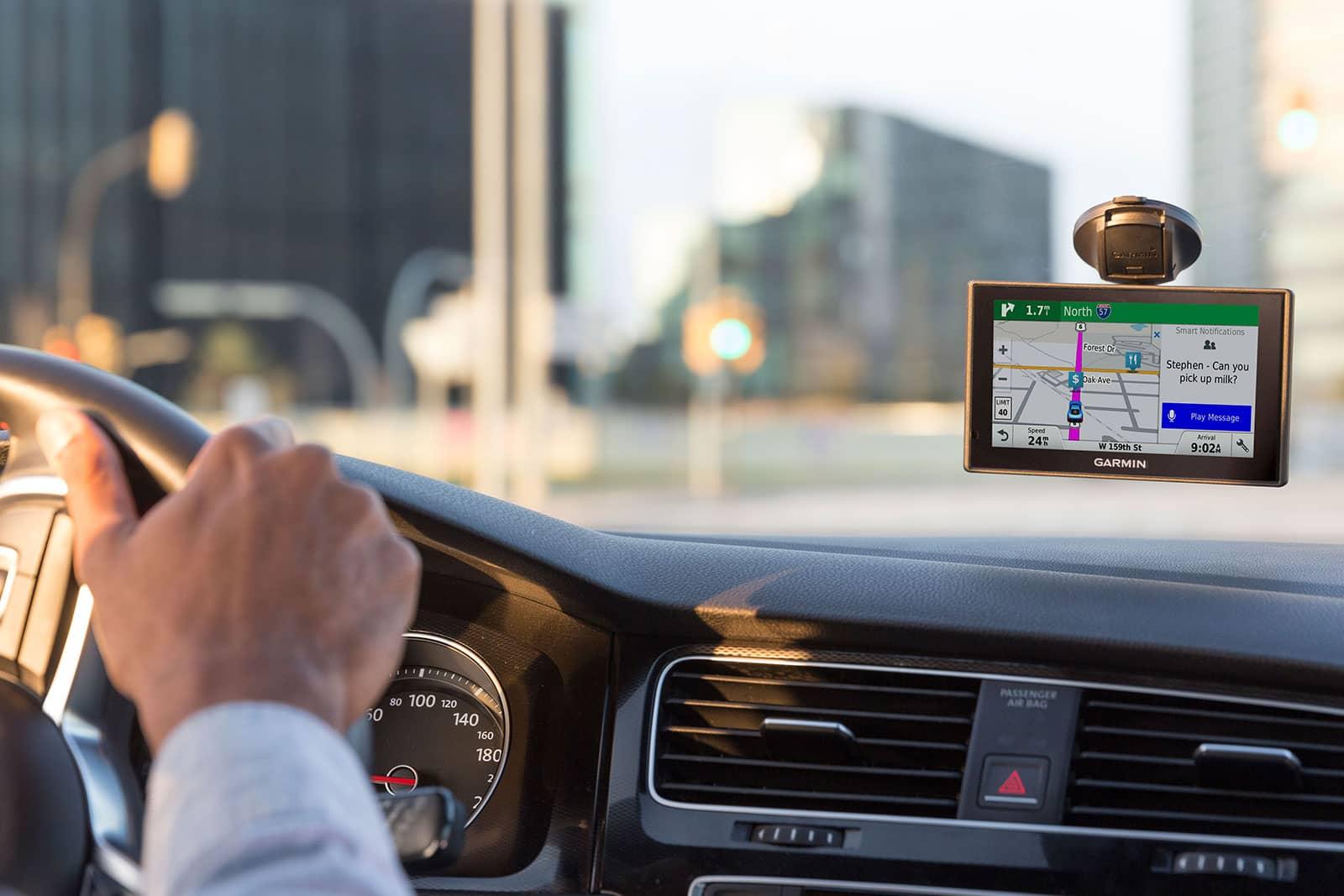 GPS in rental car