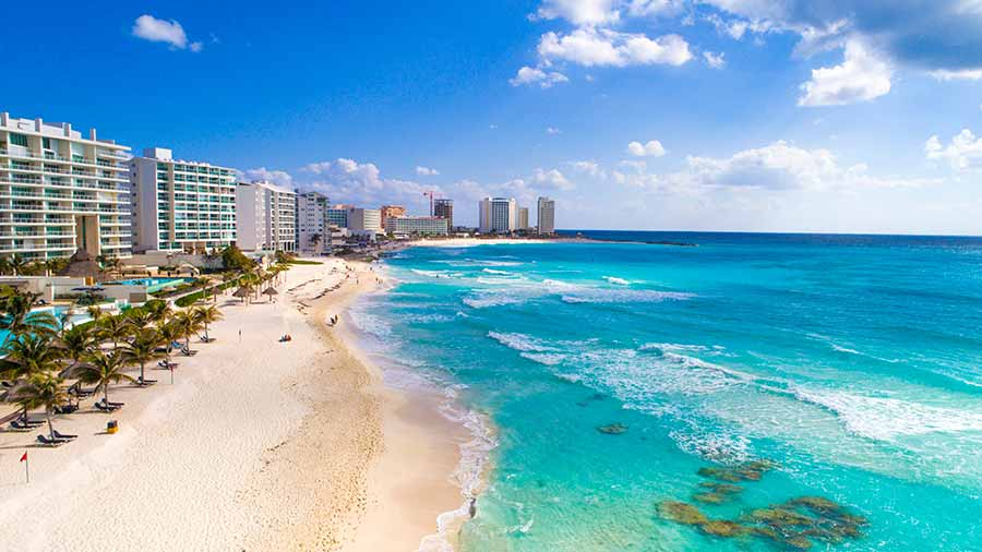 Beach in Cancun