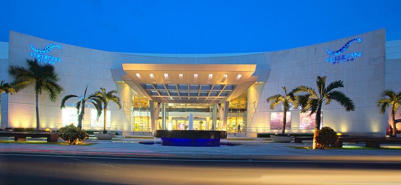 Facade of Kukulcan Plaza mall in Cancun