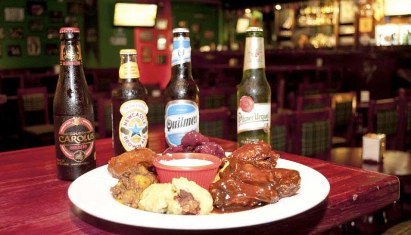 Food and beverage at McCarthy's Irish Pub in Cancun