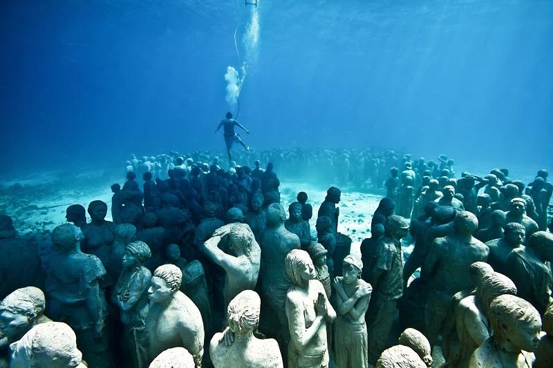 Underwater Art Museum in Cancun