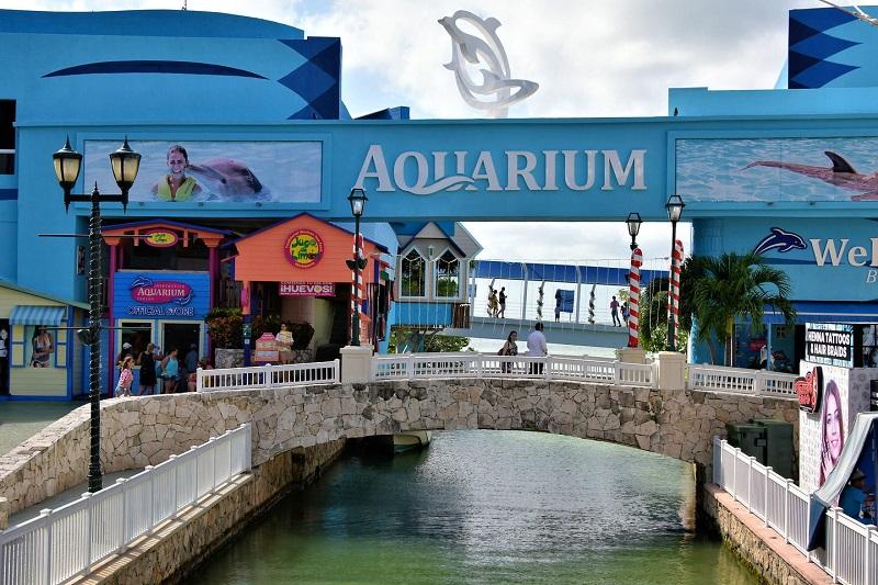 Aquarium at La Isla mall in Cancun