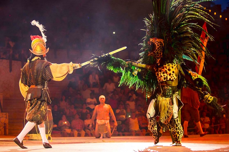 Show at Xcaret Park in Cancun