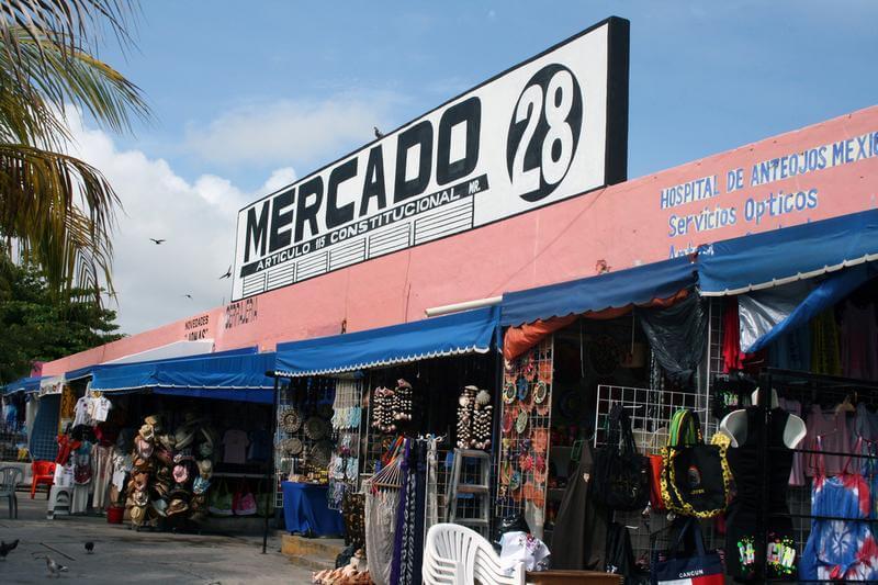 Entrance to Mercado 28 in Cancun