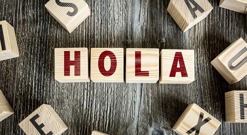 Hello in Spanish - Hola