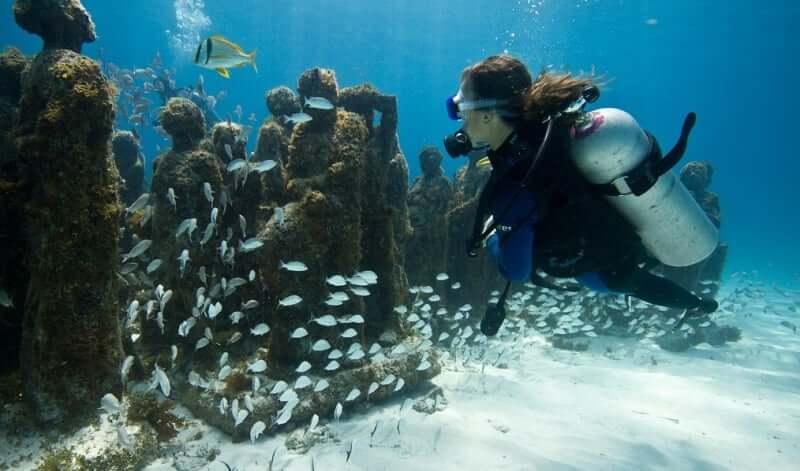 Underwater Museum on Isla Mujeres