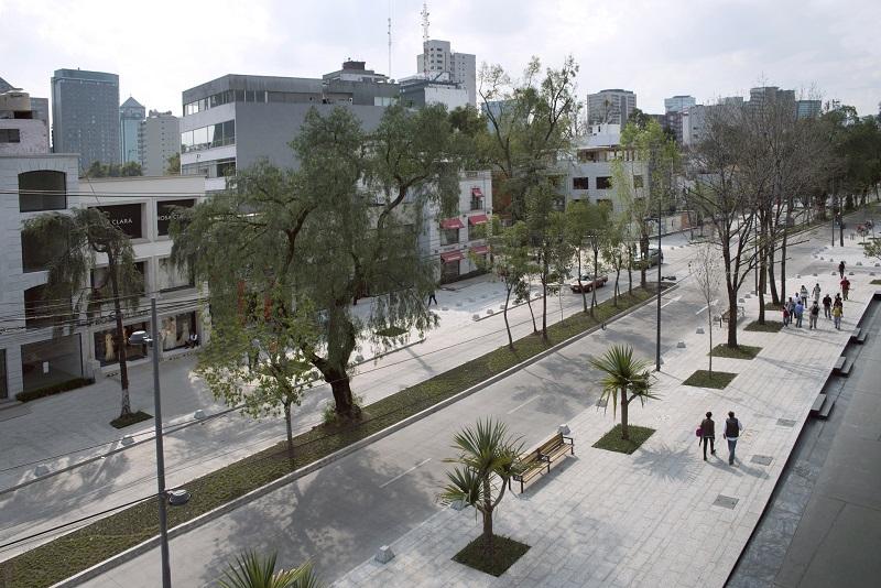 Presidente Masaryk Avenue in Mexico City