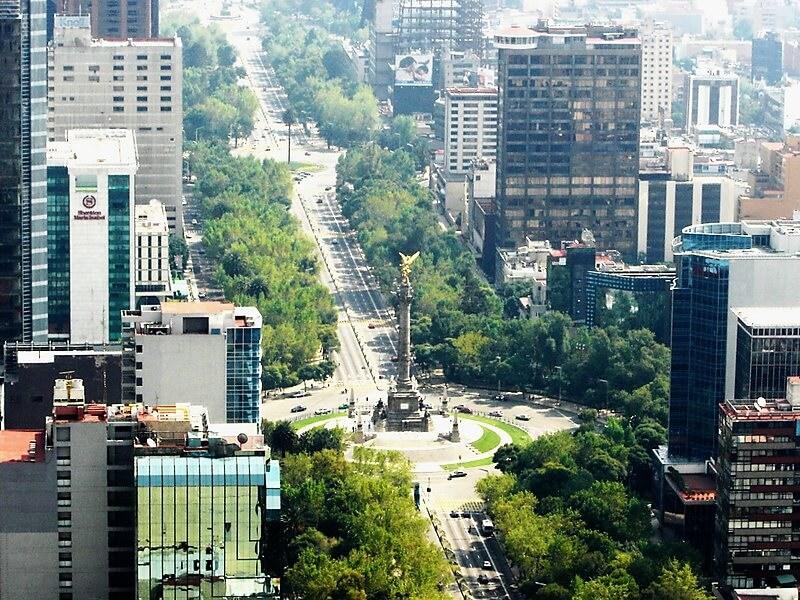 Paseo De La Reforma Avenue in Mexico City