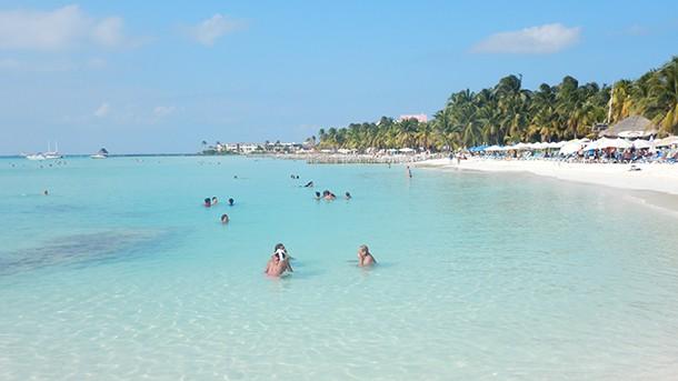 North Beach in Cancun