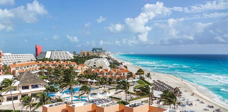 Cancun in March