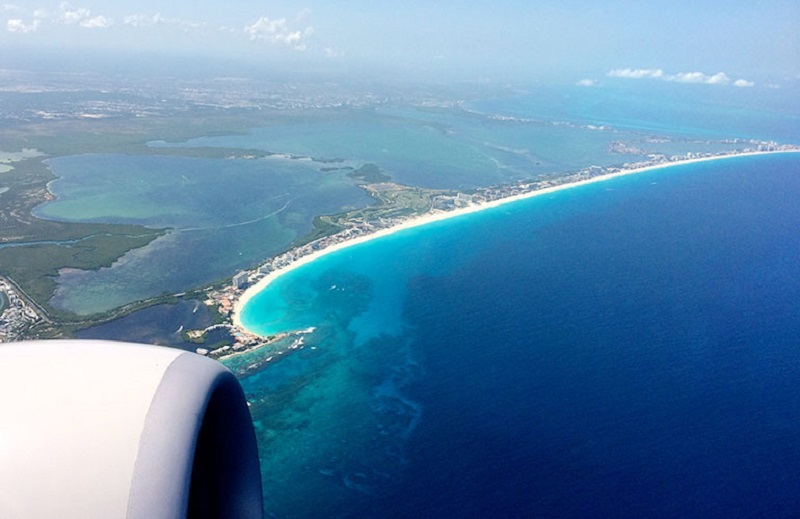 View from the Mexico airplane