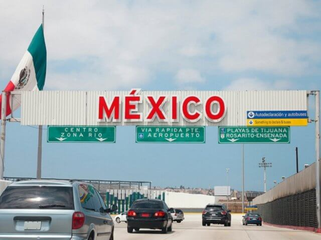 Mexico sign on the road
