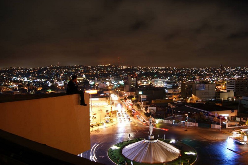 Revolución Avenue at night in Tijuana