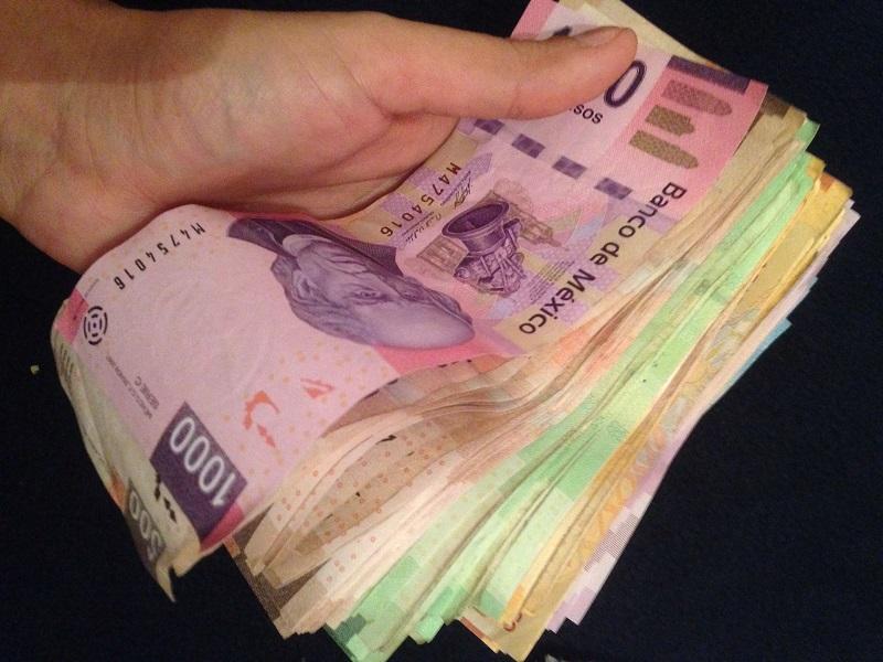 Mexican pesos in cash